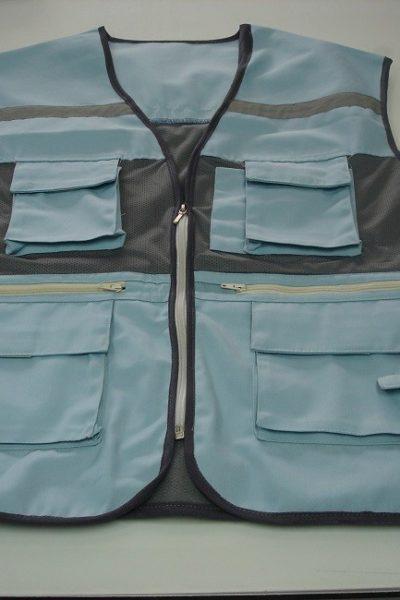Đồng phục bảo hộ lao động bán sẵn – Áo gi lê màu xám 01