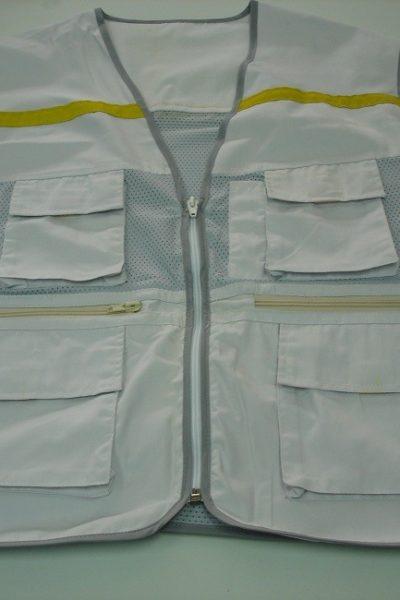 Đồng phục bảo hộ lao động bán sẵn – Áo gi lê màu xám 04