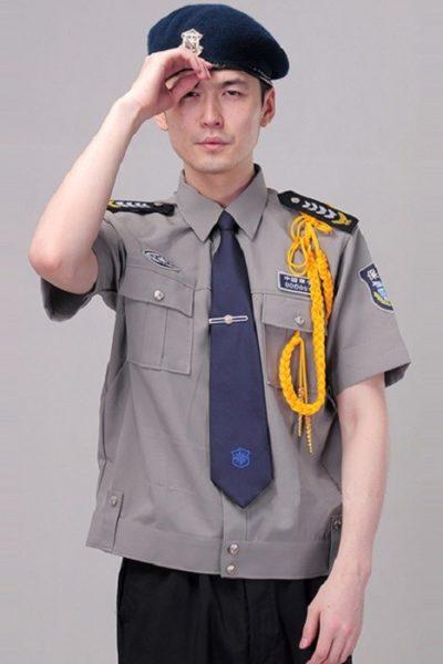 Đồng phục bảo vệ vệ sĩ – Quần áo bảo vệ vệ sỹ màu xám tay ngắn  01