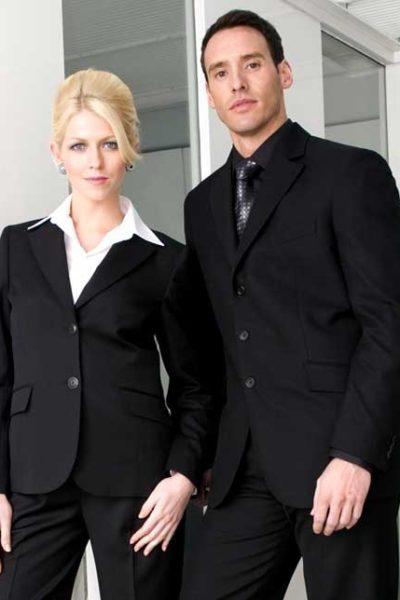 Đồng phục nhà hàng khách sạn – Đồng phục quản lý quần tây đen, vest đen 01