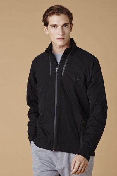 Đồng phục áo khoác – Áo khoác gió màu đen không nón 02