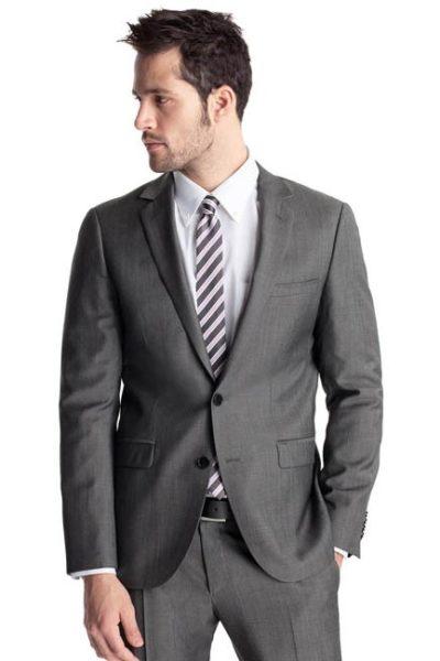 Đồng phục công sở – Áo vest nam màu xám 02