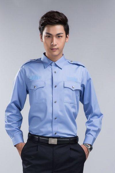 Đồng phục bảo vệ vệ sĩ – Quần áo bảo vệ vệ sỹ màu xanh tay dài02
