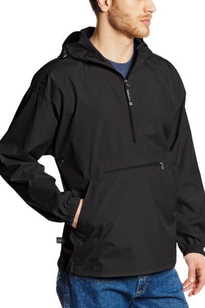 Đồng phục áo khoác – Áo khoác gió màu đen có nón 18