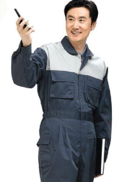 Đồng phục bảo hộ lao động – Quần áo bảo hộ lao động màu xám tay dài 03