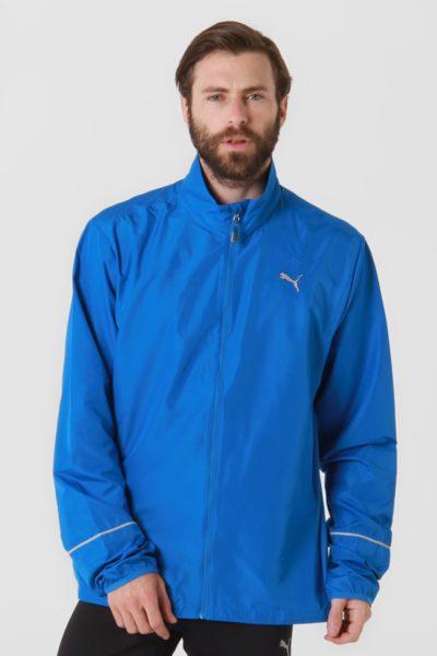 Đồng phục áo khoác – Áo khoác gió màu xanh không nón 03