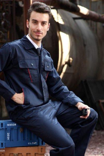 Đồng phục bảo hộ lao động – Quần áo bảo hộ lao động màu xanh đen tay dài 04