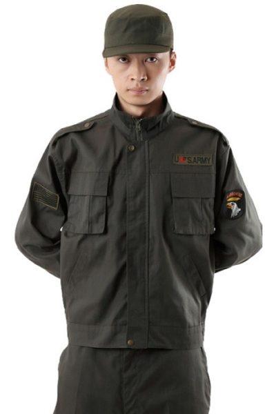 Đồng phục bảo vệ vệ sĩ – Quần áo bảo vệ vệ sỹ màu xám tay ngắn  03