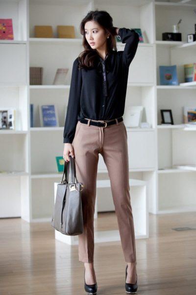Đồng phục công sở – Quần âu nữ màu kem 06