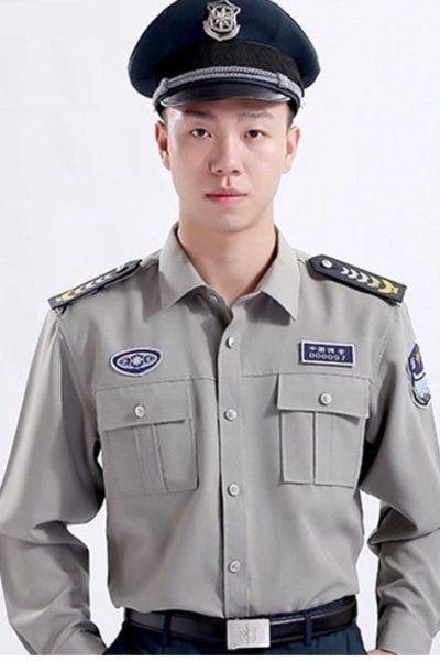 Đồng phục bảo vệ vệ sĩ – Quần áo bảo vệ vệ sỹ áo xám tay dài 06