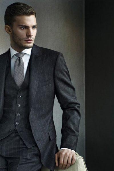 Đồng phục công sở – Áo vest nam màu đen 07