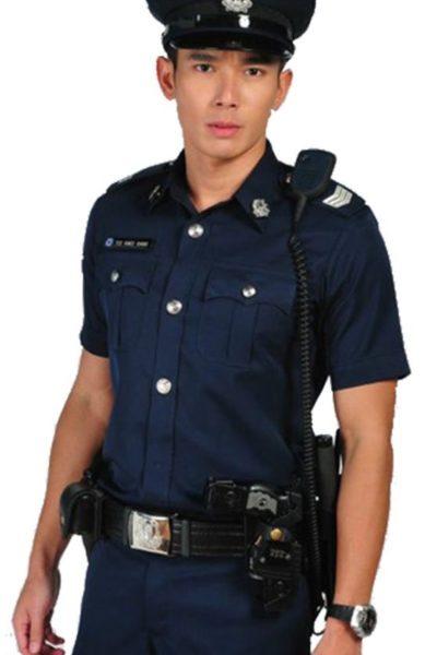 Đồng phục bảo vệ vệ sĩ – Quần áo bảo vệ vệ sỹ màu đen tay ngắn 07