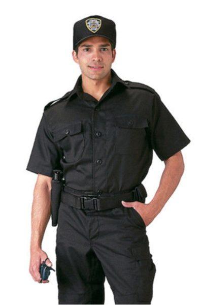 Đồng phục bảo vệ vệ sĩ – Quần áo bảo vệ vệ sỹ màu đen tay ngắn 08