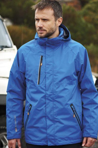 Đồng phục áo khoác – Áo khoác gió màu xanh có nón 08