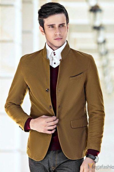 Đồng phục công sở – Áo vest nam màu bò  09
