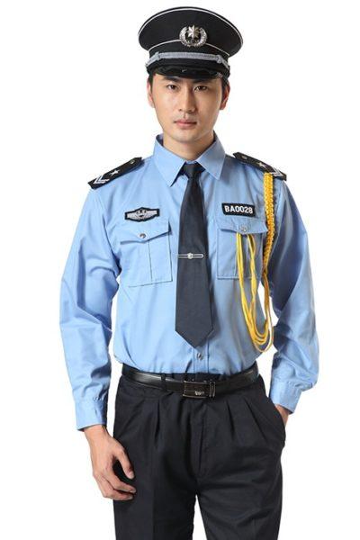 Đồng phục bảo vệ vệ sĩ – Quần áo bảo vệ vệ sỹ màu xanh tay dài 09