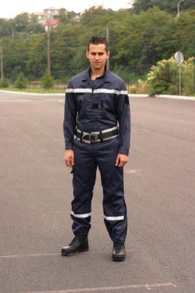 Đồng phục bảo hộ lao động – Quần áo bảo hộ lao động màu xanh đen có cản quang 09