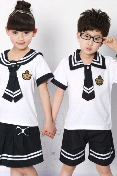 Đồng phục học sinh sinh viên – Đồng phục học sinh cấp I váy, quần đen, áo sơ mi trắng 10