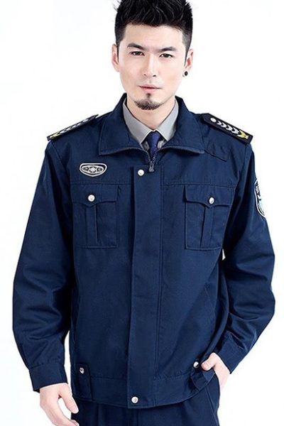 Đồng phục bảo vệ vệ sĩ – Quần áo bảo vệ vệ sỹ màu xanh tay dài 10