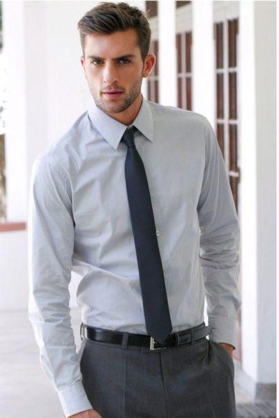 Đồng phục công sở – Áo sơ mi nam dài tay màu xám 10
