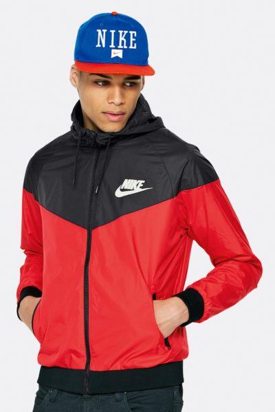 Đồng phục áo khoác – Áo khoác gió phối màu đỏ đen có nón 10