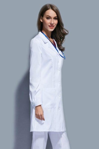 Đồng phục bệnh viện – Đồng phục áo blouse nữ màu trắng tay dài 11