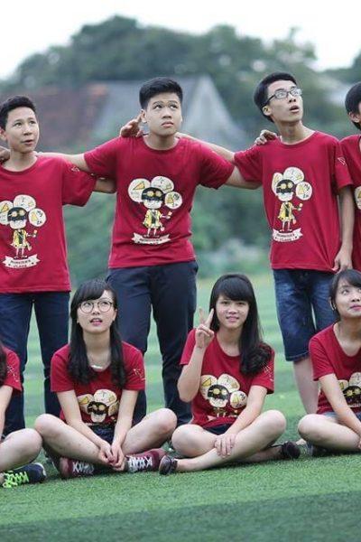 Đồng phục áo thun – Áo thun nhóm lớp cổ tròn màu đỏ tay ngắn 11