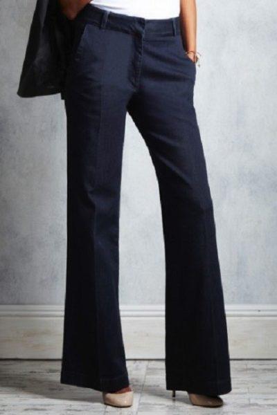 Đồng phục công sở – Quần âu nữ màu đen ống loe 12