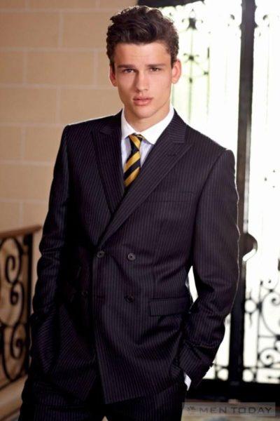 Đồng phục công sở – Áo vest nam màu đen 12