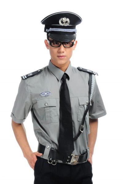 Đồng phục bảo vệ vệ sĩ – Quần áo bảo vệ vệ sỹ màu xám tay ngắn 13