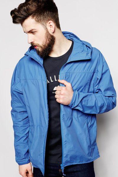 Đồng phục áo khoác – Áo khoác gió màu xanh có nón túi có khóa kéo 12