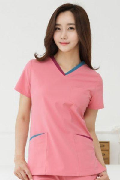 Đồng phục bệnh viện – Đồng phục y tá màu hồng tay ngắn 14