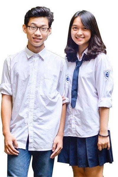 Đồng phục học sinh sinh viên – Đồng phục học sinh cấp II áo sơ mi trắng tay dài 14