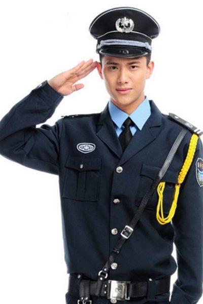 Đồng phục bảo vệ vệ sĩ – Quần áo bảo vệ vệ sỹ màu đen tay dài 14