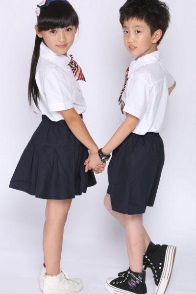 Đồng phục học sinh sinh viên – Đồng phục học sinh cấp I váy, quần đen, áo sơ mi trắng 15