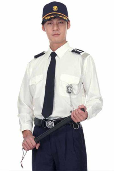 Đồng phục bảo vệ vệ sĩ – Quần áo bảo vệ vệ sỹ màu trắng tay dài 15