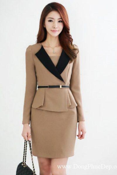 Đồng phục công sở – Áo vest nữ màu bò 15