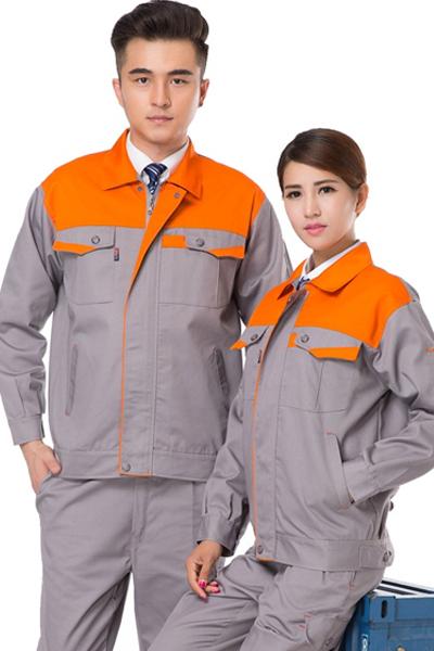 Đồng phục bảo hộ lao động – Quần áo bảo hộ lao động màu xám phối vàng tay dài 16