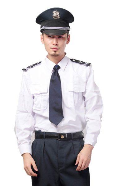 Đồng phục bảo vệ vệ sĩ – Quần áo bảo vệ vệ sỹ màu trắng tay dài 16