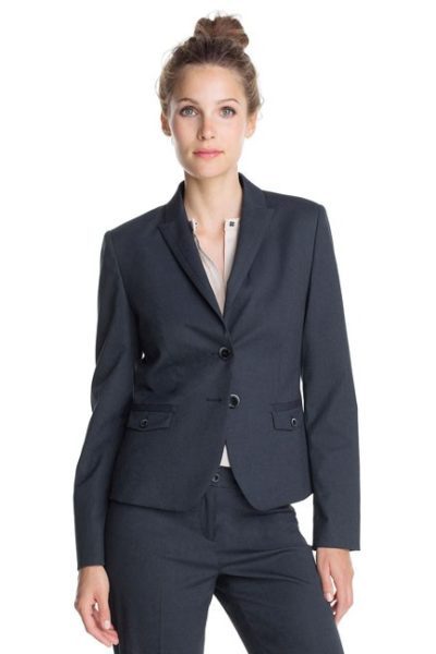 Đồng phục công sở – Áo vest nữ màu đen 17