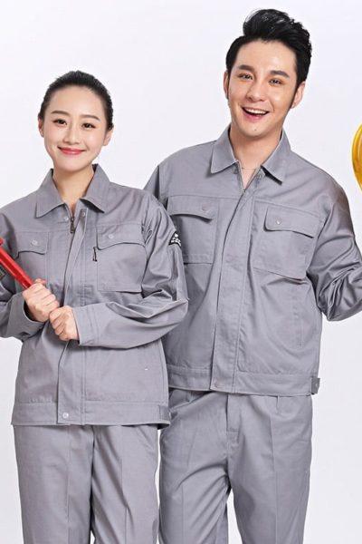 Đồng phục bảo hộ lao động – Quần áo bảo hộ lao động màu xám tay dài 17