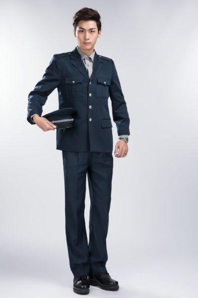 Đồng phục bảo vệ vệ sĩ – Quần áo bảo vệ vệ sỹ màu đen tay dài 18