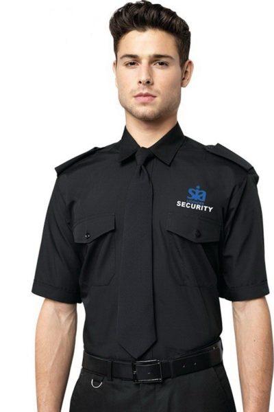 Đồng phục bảo vệ vệ sĩ – Quần áo bảo vệ vệ sỹ màu đen tay ngắn 19