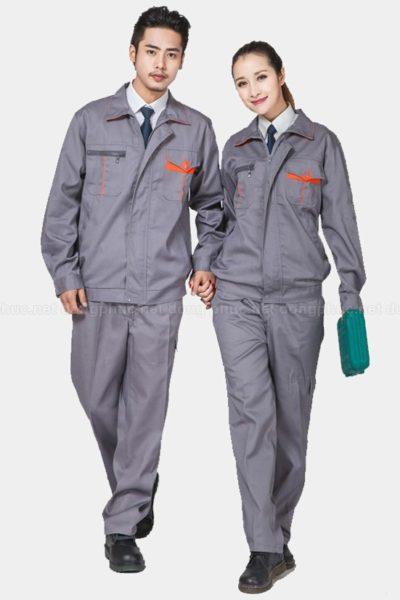 Đồng phục bảo hộ lao động – Quần áo bảo hộ lao động màu xám tay dài 20