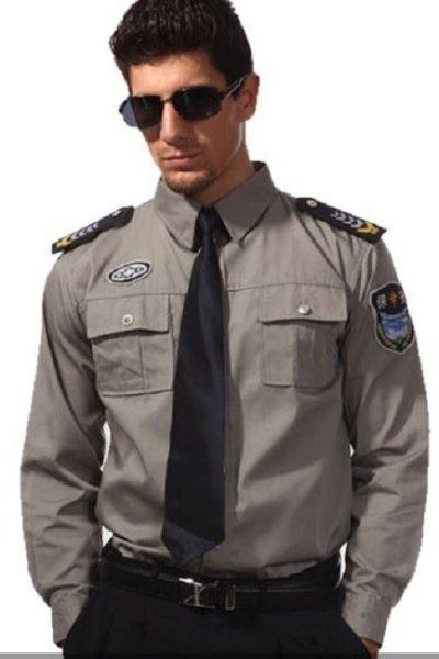 Đồng phục bảo vệ vệ sĩ – Quần áo bảo vệ vệ sỹ màu xám tay dài 20