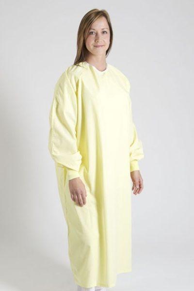Đồng phục bệnh viện – Đồng phục bệnh nhân màu vàng tay dài 01