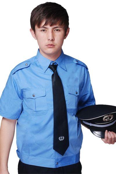 Đồng phục bảo vệ vệ sĩ – Quần áo bảo vệ vệ sỹ màu xanh tay ngắn 21