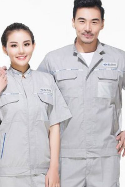 Đồng phục bảo hộ lao động – Quần áo bảo hộ lao động màu xám tay ngắn 22