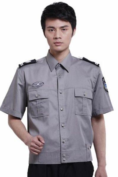 Đồng phục bảo vệ vệ sĩ – Quần áo bảo vệ vệ sỹ màu xám tay ngắn 22