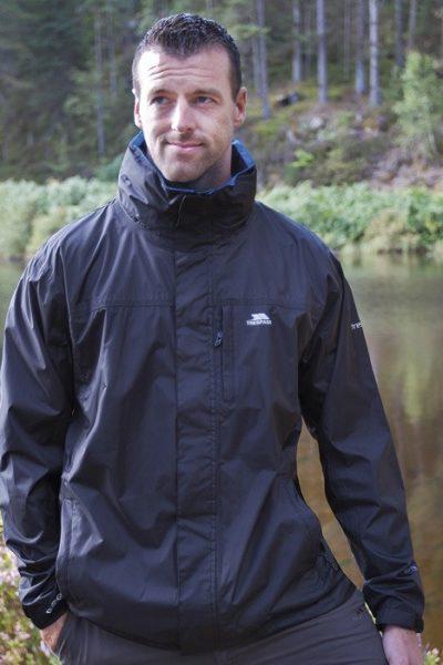 Đồng phục áo khoác – Áo khoác gió màu đen không nón 07